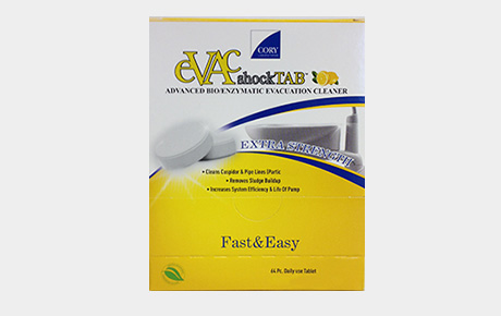 Cory Labs Evac Shock Tablets Dental Evacuation Cleaner